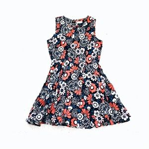 Madison Jules floral fit and flare mini dress sz m